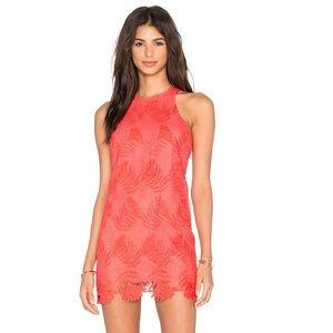 Lovers+friends caspian shift dress coral reef XS